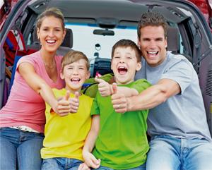 Familie unterwegs