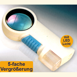 Lupe 5 - 11-fach mit LED-Beleuchtung / LED-Taschenlampe